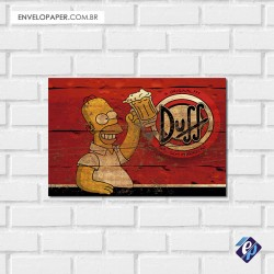 Placa Decorativa - duff homer 2