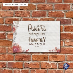 Placa Decorativa - atitude