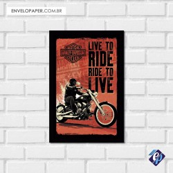 Placa Decorativa - harley davidson 3
