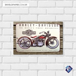 Placa Decorativa - harley davidson 2