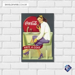 Placa Decorativa - coca cola retrô 3