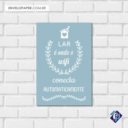 Placa Decorativa - wi fi conecta