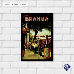 Placa Decorativa - brahma retrô
