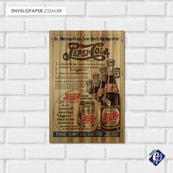Placa Decorativa - pepsi retro