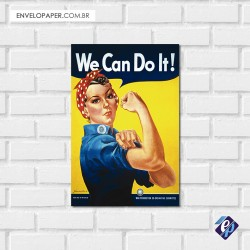 Placa Decorativa - we can do it