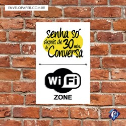 Placa Decorativa - Wi Fi Zone