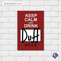 Placa Decorativa - Duff Calm
