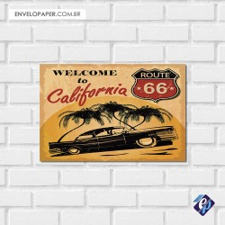 Placa Decorativa - california