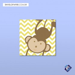 Placa Decorativa 30x30cm - macaco