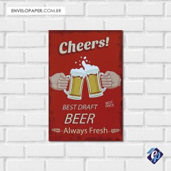 Placa Decorativa - beer 3