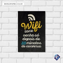Placa Decorativa - Wi Fi Zone 2