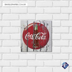 Placa Decorativa 30x30cm - coca cola retrô