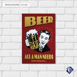 Placa Decorativa - beer 4