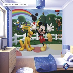 Painel Fotográfico Adesivo Infantil - Mickey 301x290cm