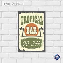 Placa Decorativa - tropical bar