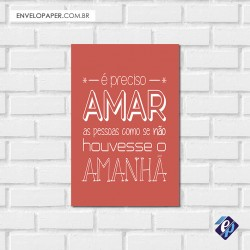Placa Decorativa - amar