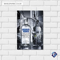 Placa Decorativa - absolut vodka