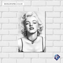 Placa Decorativa - marilyn monroe retrô 2