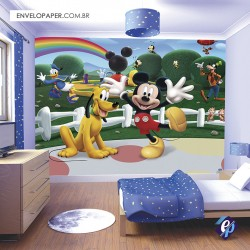 Painel Fotográfico Adesivo Infantil - Mickey 401x290cm